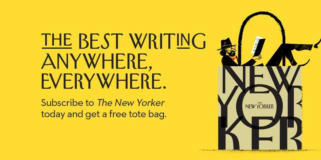 New Yorker Subscriber ad