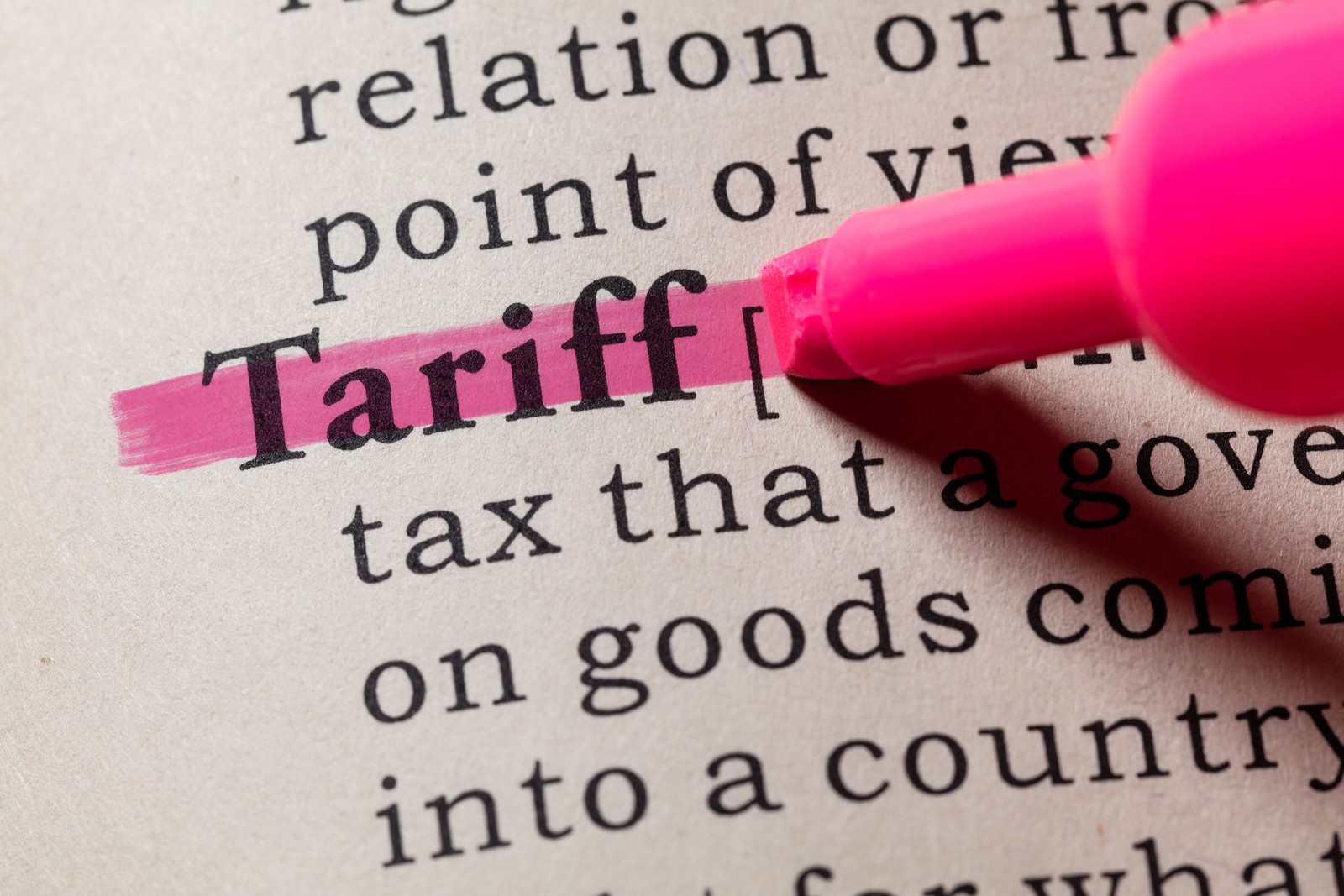 Definition Of Tariff